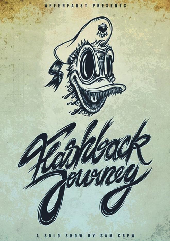 Ausstellungsflyer - Sam Crew: Flashback Journey