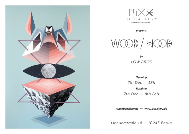 low bros at bc gallery - flyer