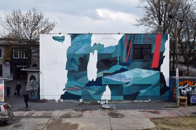 Johannes Mundinger mural at Urban Spree Berlin